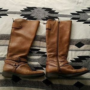 Enzo Angiolini Brown Leather Riding Boots